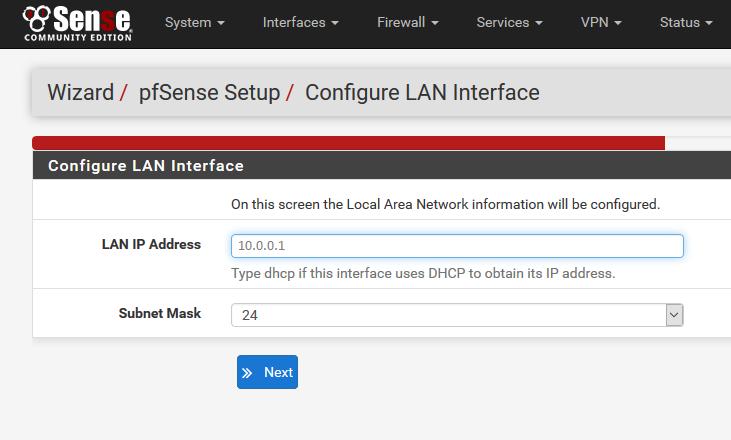 pfsense interface web