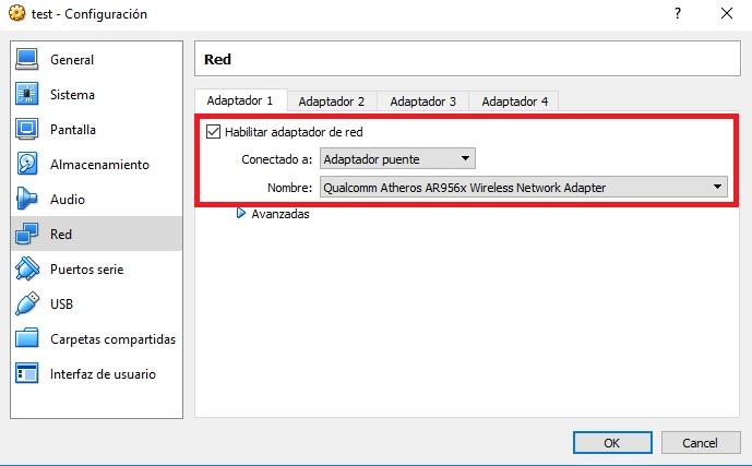 configuracion red kali linux