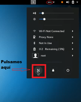 Screenshot kali linux herramientas