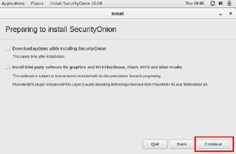 Instalar security onion 2/4
