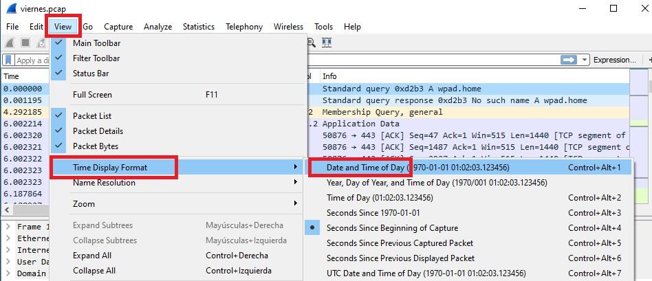 Wireshark como personalizar las columnas