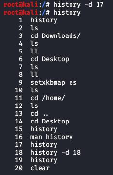 Eliminar-historial-comandos-linux